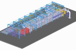 Linka eloxování a leštění (3D model)