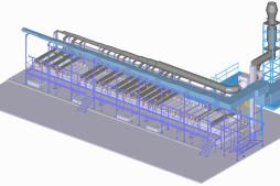 Linka eloxování (3D model)
