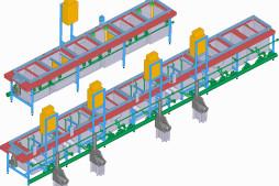 Linka niklování  (3D model)